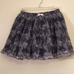 H&M Bottoms - H&M girls gray bunny rabbit tulle skirt